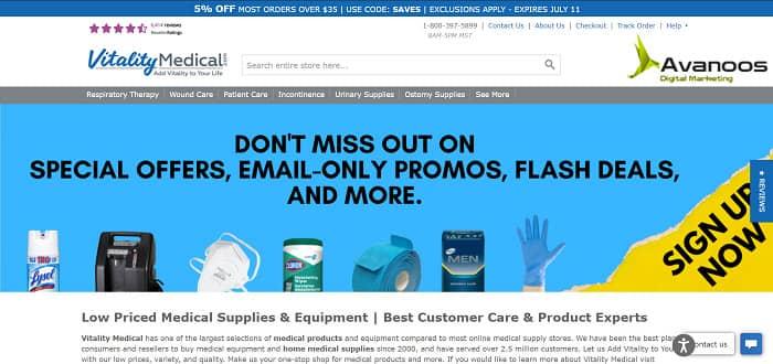 قیمت طراحی سایت فروشگاه لوازم پزشکی