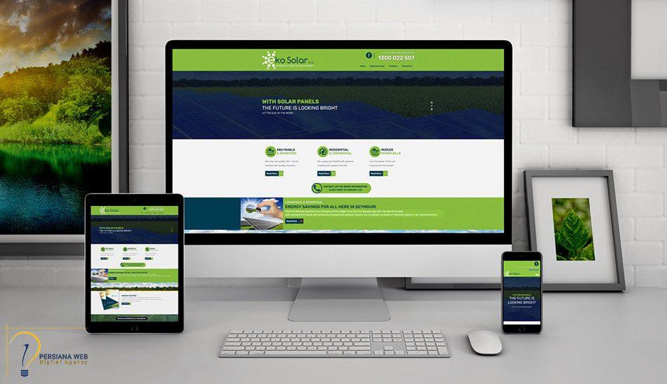 طراحی سایت ساده و شیک
